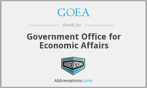 What does GOEA stand for?