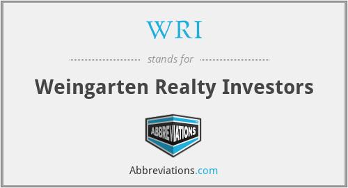 WRI - Weingarten Realty Investors