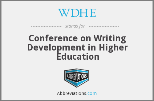 WDHE - Conference on Writing Development in Higher Education