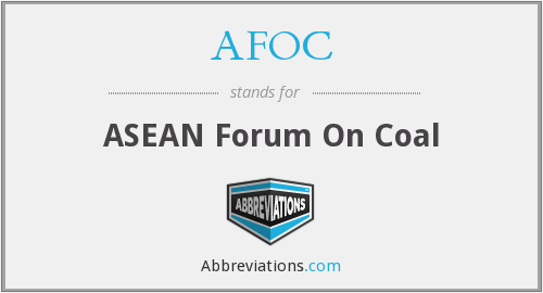 AFOC - ASEAN Forum On Coal