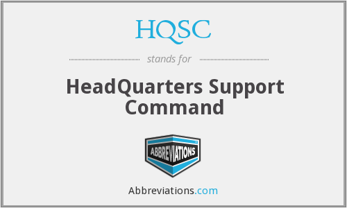 What does HQSC stand for?