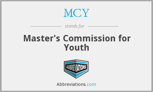 MCY - Master's Commission for Youth