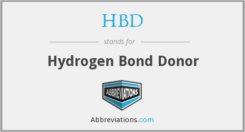 HBD - Hydrogen Bond Donor