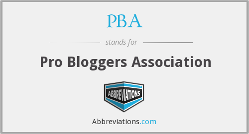 PBA - Pro Bloggers Association
