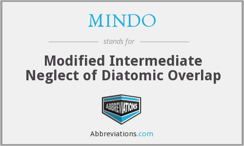 MINDO - Modified Intermediate Neglect of Diatomic Overlap