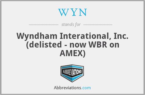 WYN - Wyndham Interational, Inc. (delisted - now WBR on AMEX)