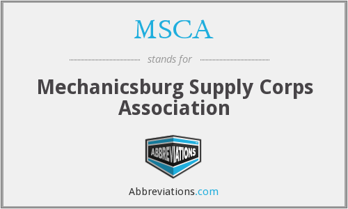 MSCA - Mechanicsburg Supply Corps Association