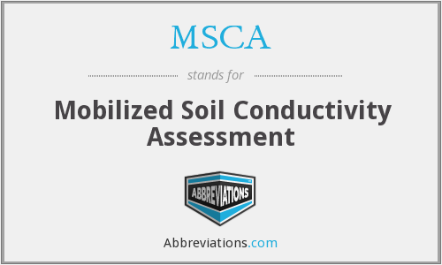 MSCA - Mobilized Soil Conductivity Assessment