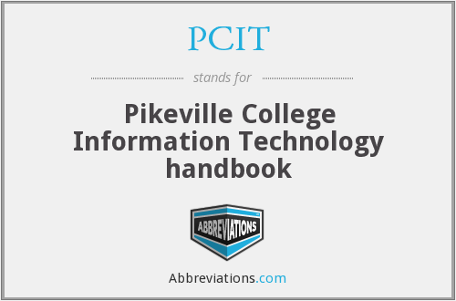 PCIT - Pikeville College Information Technology handbook