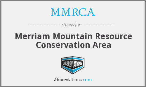 MMRCA - Merriam Mountain Resource Conservation Area