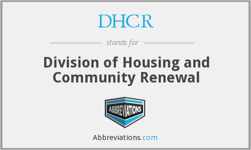 DHCR - Division of Housing and Community Renewal