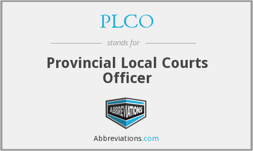 PLCO - Provincial Local Courts Officer