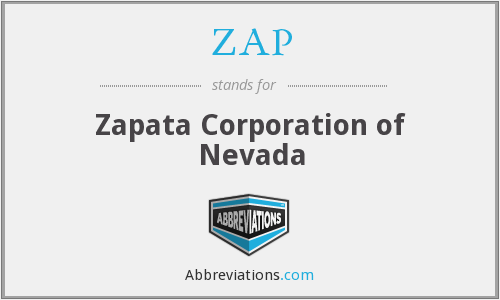 ZAP - Zapata Corporation of Nevada