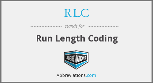 RLC - Run Length Coding