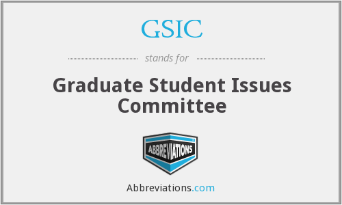 GSIC - Graduate Student Issues Committee