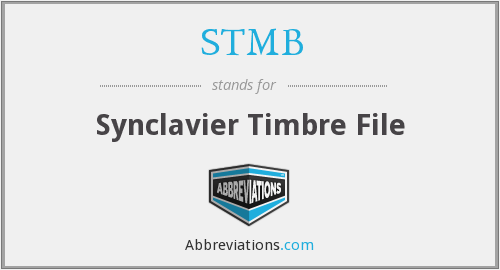 STMB - Synclavier Timbre File