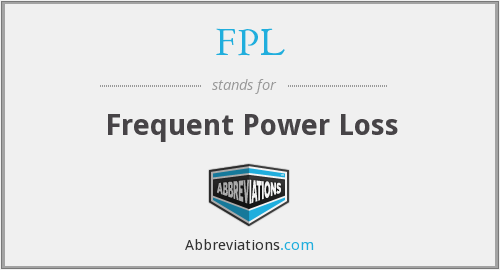 FPL - Frequent Power Loss