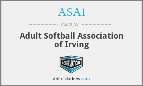 ASAI - Adult Softball Association of Irving