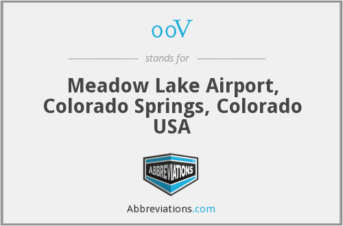 00V - Meadow Lake Airport, Colorado Springs, Colorado USA