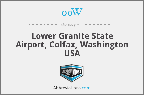 00W - Lower Granite State Airport, Colfax, Washington USA