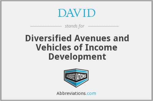 DAVID - Diversified Avenues and Vehicles of Income Development
