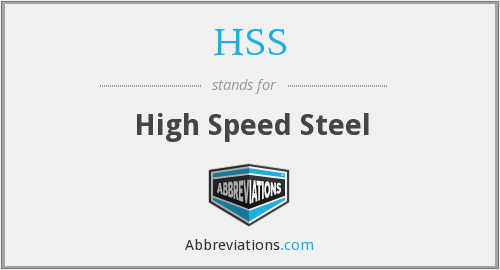 HSS - High Speed Steel