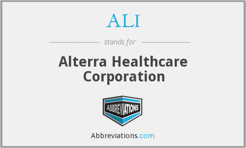 ALI - Alterra Healthcare Corporation