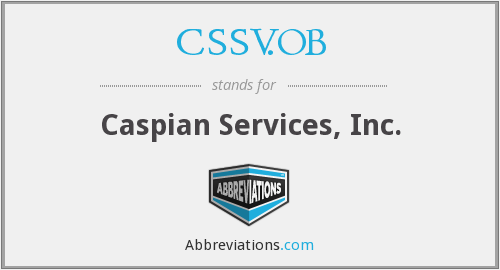 What does CSSV.OB stand for?