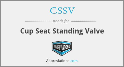 CSSV - Cup Seat Standing Valve