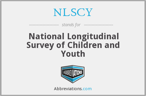 NLSCY - National Longitudinal Survey of Children and Youth