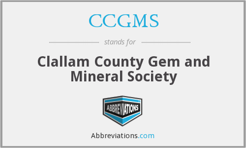 CCGMS - Clallam County Gem and Mineral Society