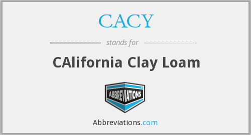 CACY - CAlifornia Clay Loam