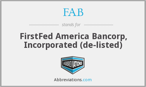 FAB - FirstFed America Bancorp, Inc.