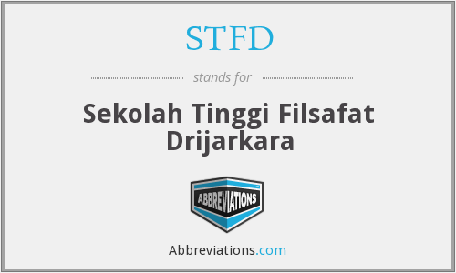 STFD - Sekolah Tinggi Filsafat Drijarkara