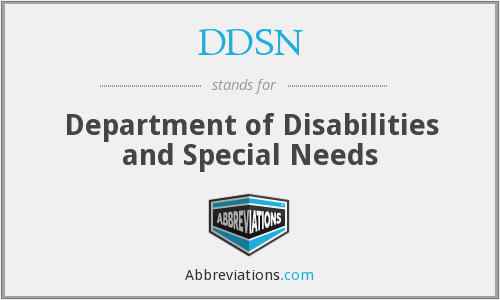 DDSN - Department of Disabilities and Special Needs