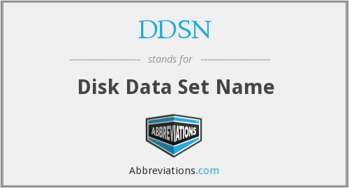 DDSN - Disk Data Set Name