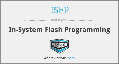 ISFP - In-System Flash Programming