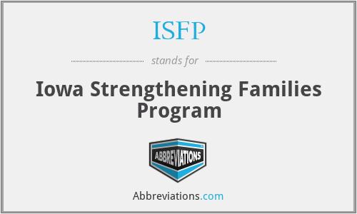 ISFP - Iowa Strengthening Families Program
