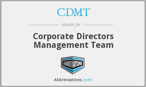 CDMT - Corporate Directors Management Team