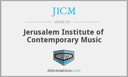 JICM - Jerusalem Institute of Contemporary Music
