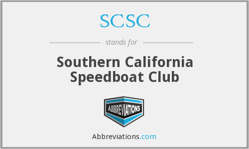 SCSC - Southern California Speedboat Club