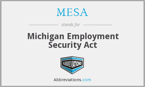 MESA - Michigan Employment Security Act