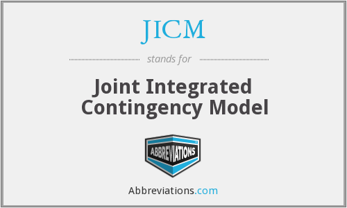 JICM - Joint Integrated Contingency Model