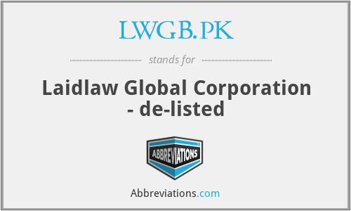 LWGB.PK - Laidlaw Global Corporation - de-listed