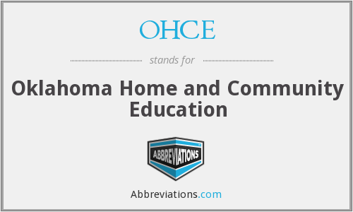 What does OHCE stand for?