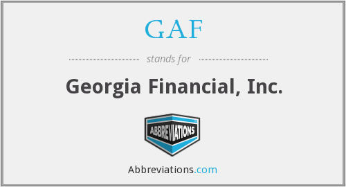 GAF - Georgia Financial, Inc.