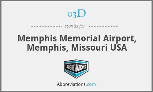 03D - Memphis Memorial Airport, Memphis, Missouri USA