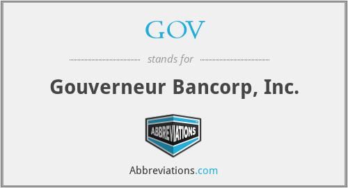 GOV - Gouverneur Bancorp, Inc.