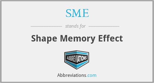 SME - Shape Memory Effect