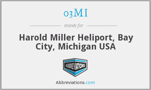 03MI - Harold Miller Heliport, Bay City, Michigan USA